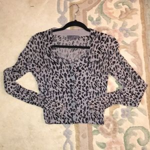 Forever 21 Sweaters - Cropped Leopard print cardigan